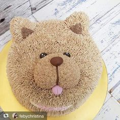 winter woodland party ideas and decor Fancy Cakes, Cute Cakes, Yummy Cakes, Pretty Cakes, Puppy Cupcakes, Puppy Cake, Cake Icing Tips, Fox Cake, Teddy Bear Cakes