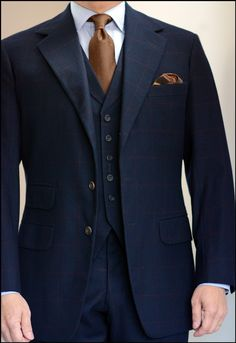 """kleidsam: """" Perfection. voxsart: """" The Waning Weeks Of The Three Piece Suit. Thursday meetings in box check Lesser Golden Bale flannel. """" """""""
