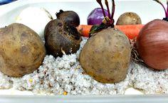 λαχανικά ψημένα στο αλάτι!