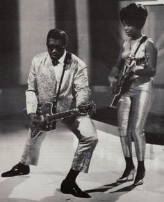 Bo Diddley & The Duchess! Was just talking about meeting Bo Diddleys family with my dad.