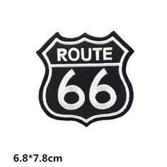 66 route 66 embroidery patch Embroidery patches patch Embroidered patch iron on…
