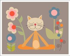 Relax with the Yoga Cat
