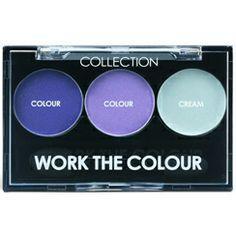 Collection 2000 WorkTheColour Trio Eyeshadow Very Berry 7