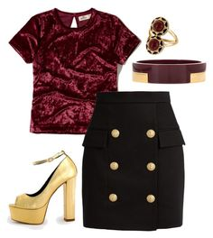 """""""Untitled #1058"""" by emiline15 on Polyvore featuring Hollister Co., Balmain, Marni and House of Harlow 1960"""