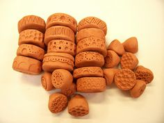 Little Brick House Clayworks: Tutorial: How to make clay rollers & stamps...........can be used for polymer clays.