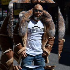 Custom made genuine shearling and sheepskin coat Winter Leather Jackets, Mens Winter Coat, Winter Coats Women, Mens Shearling Jacket, Mens Fur, Fur Puffer Coat, Fur Coats, White Hair Men, Fur Fashion