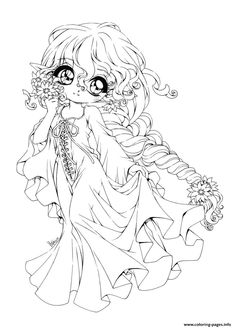 Coloring PageCharming Chibi Page 1497286992Cute Anime