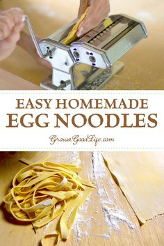 Homemade pasta tastes so much better than dried. Visit for this simple recipe for easy homemade egg noodles perfect for soups or sauces. Homemade Egg Noodles, Homemade Tomato Sauce, Homemade Pasta, Homemade Food, Noodle Recipes, Pasta Recipes, New Recipes, Real Food Recipes, Cooking Recipes