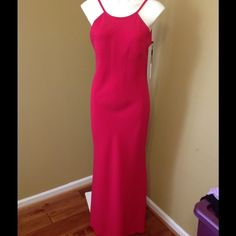 Calvin Klein formal dress Final Price Selling a ver pretty long dress gown. Spaghetti straps. Fushia color. NWT Calvin Klein Dresses