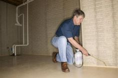 Sealing basement walls helps prevent moisture buildup contributing to mold and mildew. Sealing Basement Walls, Mold In Basement, Basement Repair, Basement Flooring, Basement Renovations, Basement Ideas, Basement Waterproofing, Basement Finishing, Basement Plans