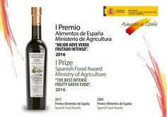 Seguimos con grandes noticias para nuestro AOVE Reserva Familiar Picual... ¡1er Premio Alimentos de España!... Great news with our Family Reserve Picual EVOO... 1st Spanish Food Award of the Ministry of Agriculture!