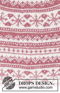 Ravelry: Selvik pattern by DROPS design Intarsia Patterns, Poncho Knitting Patterns, Knitting Stitches, Knit Patterns, Free Knitting, Crochet Cat Pattern, Crochet Lace Edging, Free Pattern, Drops Design