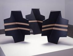 Artist: John Mason, Title: Trio, Black with Tracers, 2004