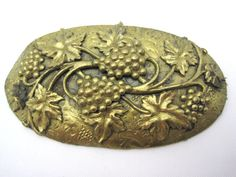 Vintage Victorian Grape Brooch  Brass by VintageInBloom on Etsy, $30.00