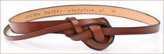 Rilleau Leather - Functional Art Since 1937 The Knotted Belt - $125.00  5 stained leather choices!