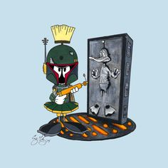 Marvin The Mandolorian Morning Cartoon, Cartoon Fun, Comics Toons, Looney Tunes Cartoons, Marvin The Martian, Daffy Duck, Comic Drawing, Classic Cartoons, Pebble Painting