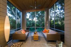 Venice Island Mid-Century Modern - midcentury - Sunroom - Tampa - Dynan Construction Management