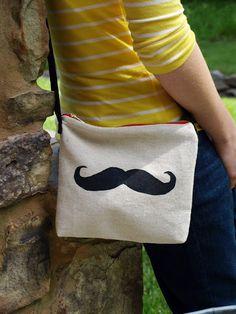 Mustache Bag.. Love it!