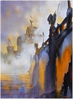 Fog on the Tiber. Artist Thomas Schaller , interview by @kimrf @twschaller
