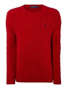57b0fc4bf3dc polo black ralph lauren, Mens polo ralph lauren clothing : polo ralph  lauren cable-knit cotton jumper - red knitwear,polo ralph lauren sale, ...