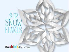 3-D Paper Snowflakes ©RADkidsart