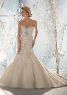 Beautiful, but too expensive... Swarovski Crystal Wedding Dress Custom Size Strapless Wedding Dress E11 on Etsy, $13,200.00