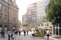 Luxembourg Royal Hamilius - Foster + Partners.  Modern cultural mixed use urban fabric project.