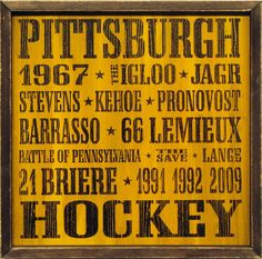 """Country Marketplace - Vintage Pittsburgh Penguins Wood Sign 18"""" x 18"""", $45.00 (http://www.countrymarketplaces.com/vintage-pittsburgh-penguins-wood-sign-18-x-18/)"""