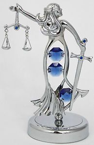 Lady Justice w/ Swarovski crystals