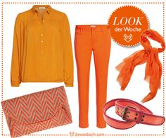 #orange #look by Brigitte vonBoch #bevonboch