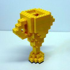 Custom Small Trophy by FoldedFancy on Etsy Lego Creationary, Custom Trophies, Lego Knights, 3d Printing Diy, Lego Club, Lego System, Cheap Toys, Lego Models, Lego Projects