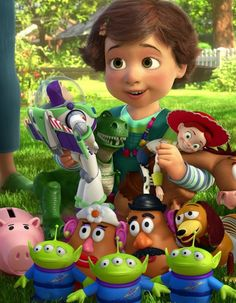 bonnie woody buzz mr potato head rex awwwwwwwwww i can go on and on i LOVE toy story