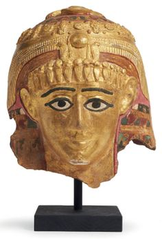 An Egyptian mummy mask 1st century A.D, old Kingdom Roman period