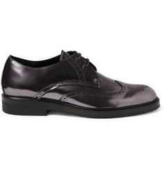 Pierre Hardy Metallic-Leather Brogues $575 - metallic, because why not!