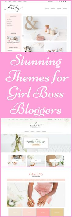 Starting a new blog and want to WOW your readers with a gorgeous feminine Girl Boss theme? Restored 316 has the most beautiful feminine themes I have come across! I use the Darling Theme on my own blog and absolutely love it! #afflink #blogthemes #wordpressthemes #blog #Blogging #bloggerstyle