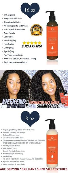 """16oz Fermented Rice Shampoo & 8oz Honey Mint """"AUTHENTIC Rose Otto """"CONDITIONER by ROYAL HERBAL ORGANICS.Starter Kit  Bundle Package  Award Winning   FREE Shipping #hairlife #hairstyle #amazinghair #hairart #BeautyHacksWithBakingSoda Baking Soda For Hair, Baking Soda Water, Baking Soda Shampoo, Baking Soda Uses, Mild Shampoo, Hair Shampoo, Grow Long Hair, Grow Hair, Hair Cleanser"""