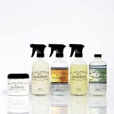 Awesome eco-friendly well reviewed cleaning products from Mrs Jones Soapbox on Esty! Combo package, $40