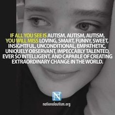 I wish people would educate themselves the perception of most is incorrect which isn't fair to the child or adult with Autism. Autism understanding and acceptance 💙 Autism Quotes, Aspergers Autism, Autism Awareness Month, Autism Awareness Quotes, Autism Sensory, Autism Speaks, Autism Parenting, Autism Resources, Autism Articles