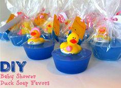 Find the best duck baby shower favors! Unique and creative duck baby shower favor ideas Ducky Baby Showers, Baby Shower Duck, Rubber Ducky Baby Shower, Boy Baby Shower Themes, Cheap Baby Shower Favors, Personalized Baby Shower Favors, Baby Favors, Recuerdos Baby Shower Niña, Diy Savon