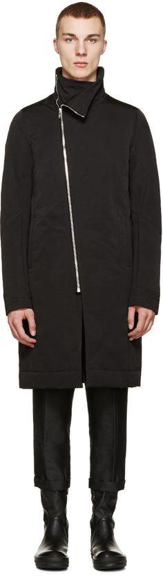 Rick Owens Black Down Tubeway Murray Coat