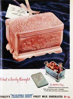 'Pleasure chest' Hodley's chocolates, 1957