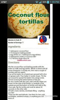 Coconut Flour Tortillas / Flat Bread