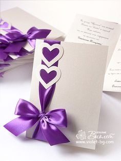 Coquette Wedding Invitation - purple