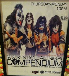 COMPENDIUM...KISS TRIBUTE @ PLANET HOLLYWOOD