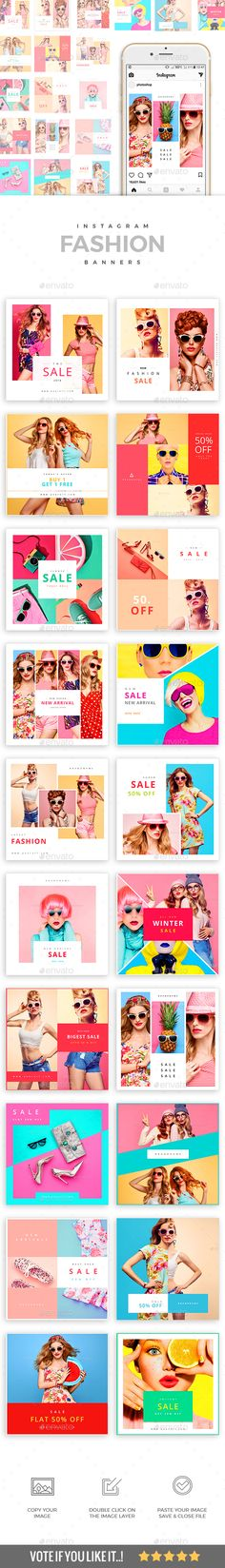 20 Fashion Instagram Banners — Photoshop PSD #promotion #online • Download ➝ https://graphicriver.net/item/20-fashion-instagram-banners/21158757?ref=pxcr