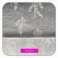 Baumwoll Jerseystoff Traumfänger, grau weiss, 50 cm von InVotum auf Etsy