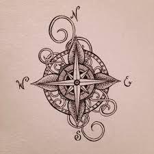 Afbeeldingsresultaat voor compass tattoo drawing