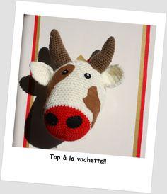 trophée vache crochet  La Fée Kitss sur Facebook!