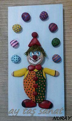 Yenimahalle, Ankara konumunda Batıkent Stone Crafts, Rock Crafts, Cute Crafts, Diy And Crafts, Crafts For Kids, Arts And Crafts, Pebble Painting, Pebble Art, Stone Painting