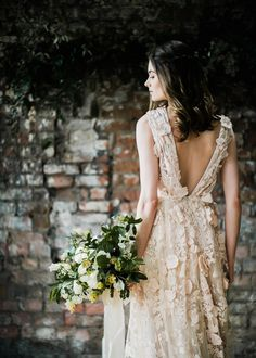Halfpenny London Wedding Dress | Clemence in Blush - Halfpenny London Wedding Dress | Clemence in Blush | Elegant & Minimal Wedding Inspiration From The Forge Bristol | Ruby & The Wolf Floral Design | John Barwood Photography